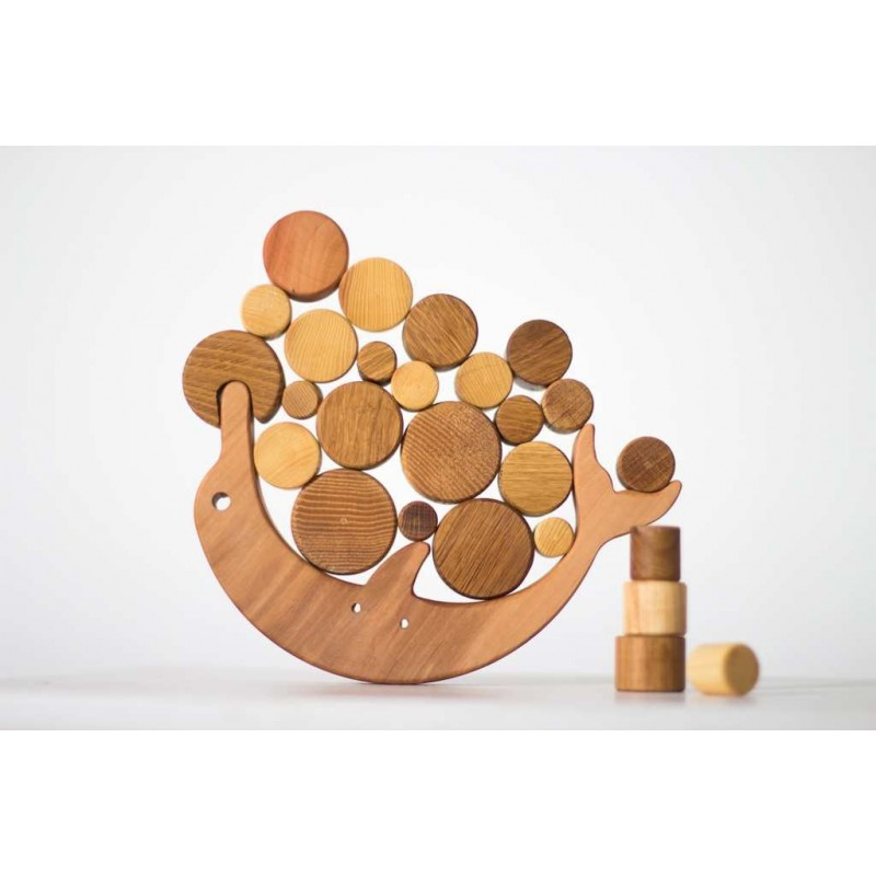 Wooden Balance Toy Dolphin