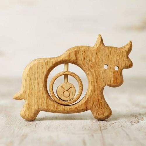 Zodiac sign Taurus baby rattle teether