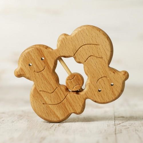 Zodiac sign Gemini baby rattle teether