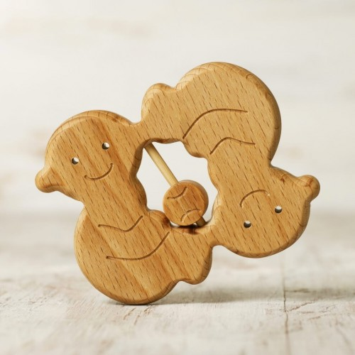 Zodiac sign Gemini baby rattle teether