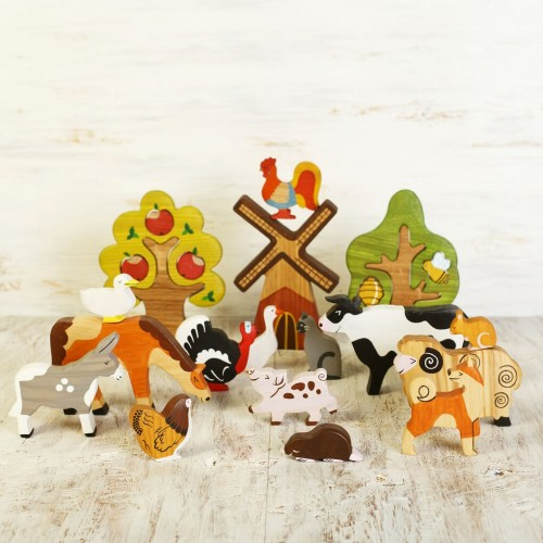 Farm Animals Toy Set