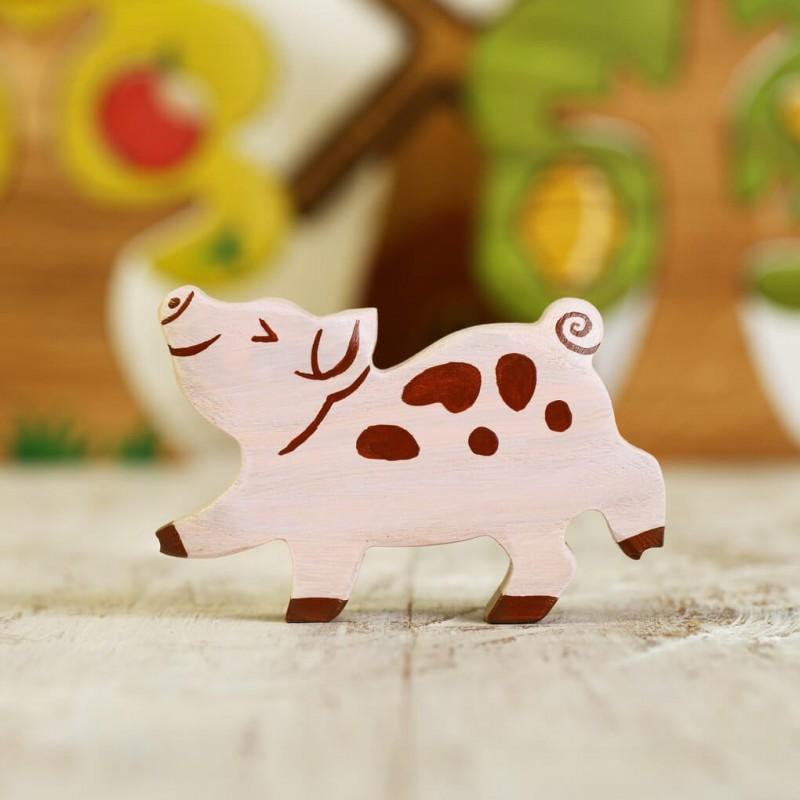 Wooden toy Piglet figurine