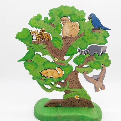 Big amazonian tree puzzle set