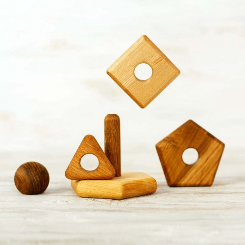 Stacking Toy in 5 different shapes and sizes