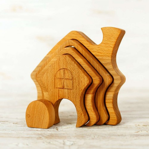 Waldorf Stacking Toy Little House