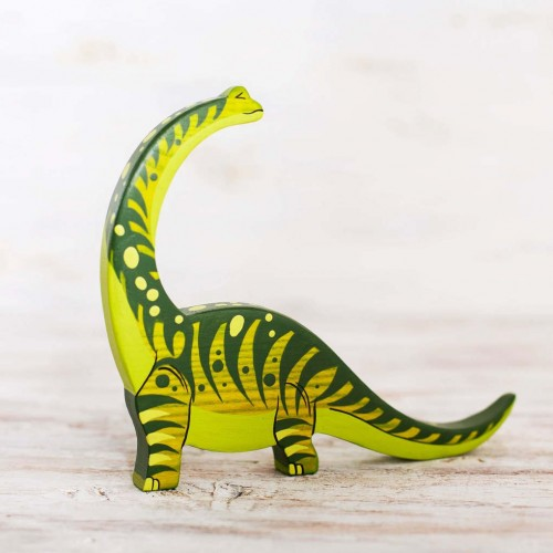 Wooden Diplodocus Toy