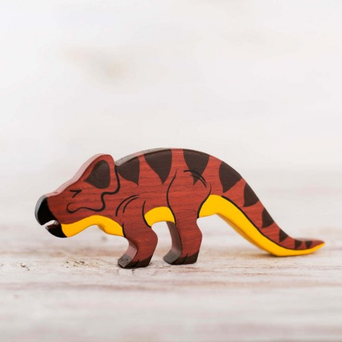 Wooden protoceratops toy