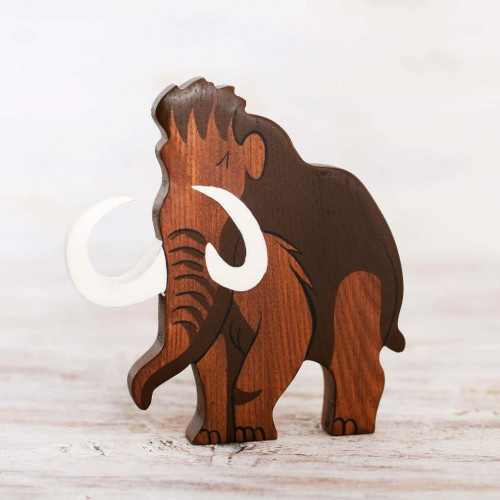 Wooden Mammoth figure