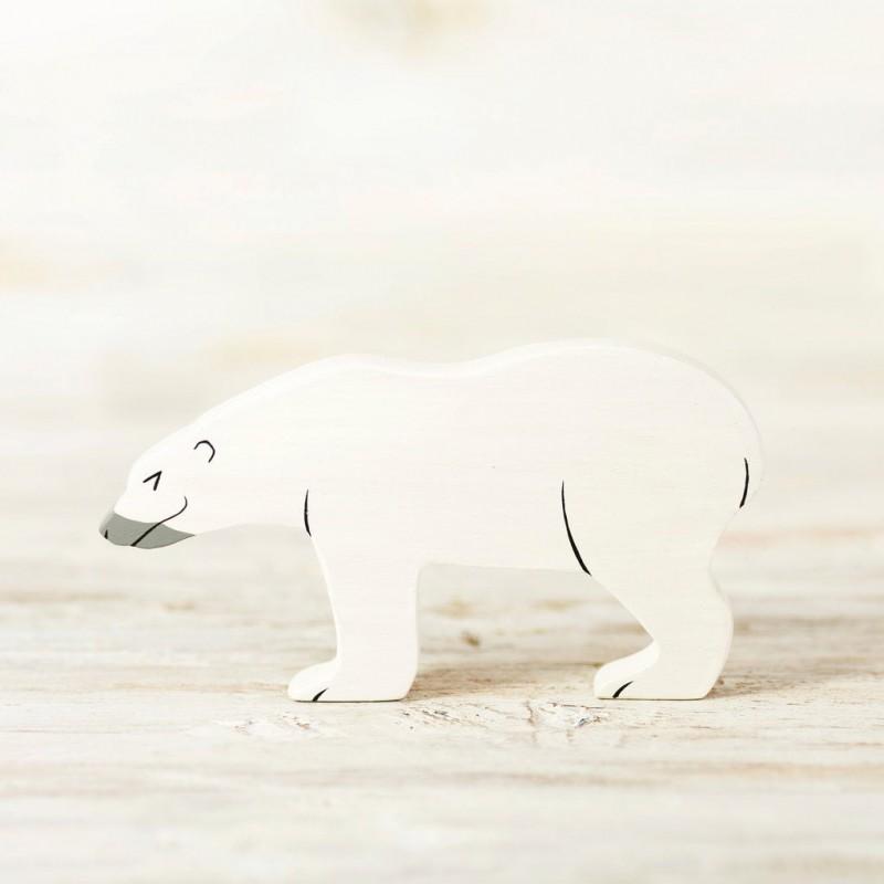 Wooden Polar Bear toy