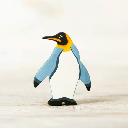 Wooden toy penguin figurine