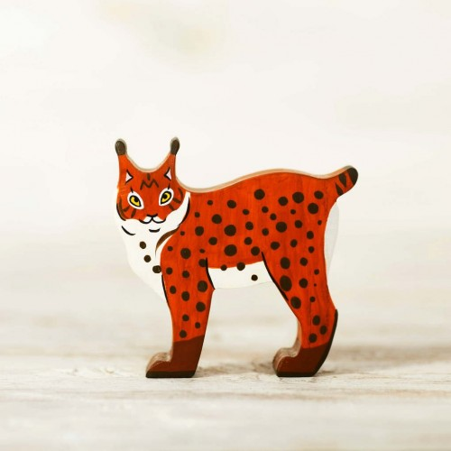 Wooden Lynx Toy