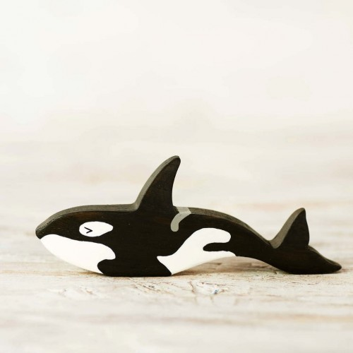 Wooden toy Orca figurine