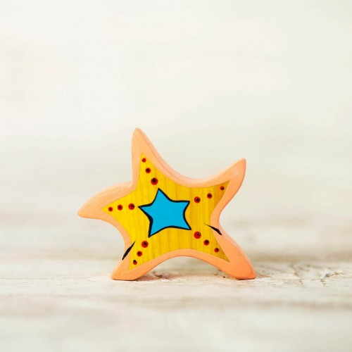Wooden starfish toy