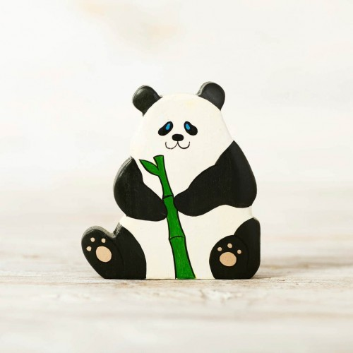 Wooden toy Panda figurine