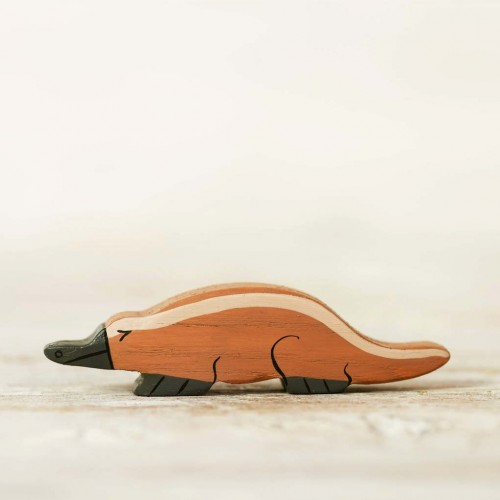 Wooden toy platypus figurine