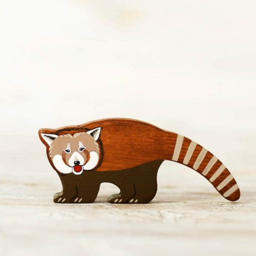 Wooden Red Panda Toy