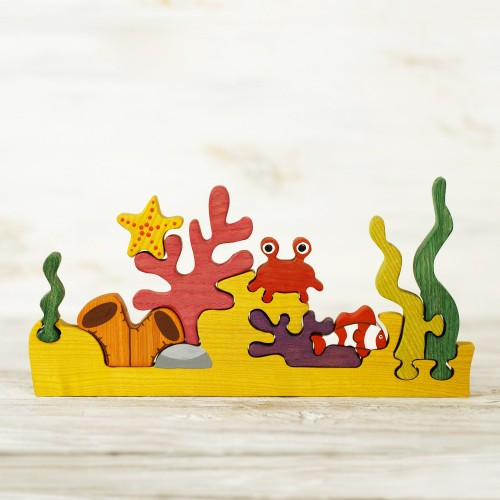 Wooden Coral Reef Puzzle Toy