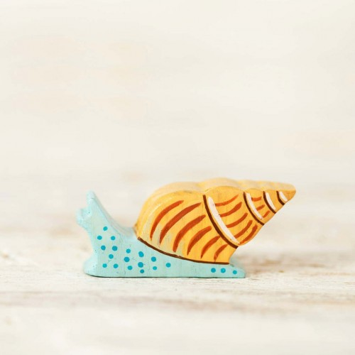Wooden Sea Snail Toy