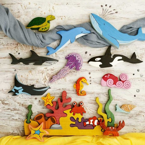 Big Set Sea Animals toys