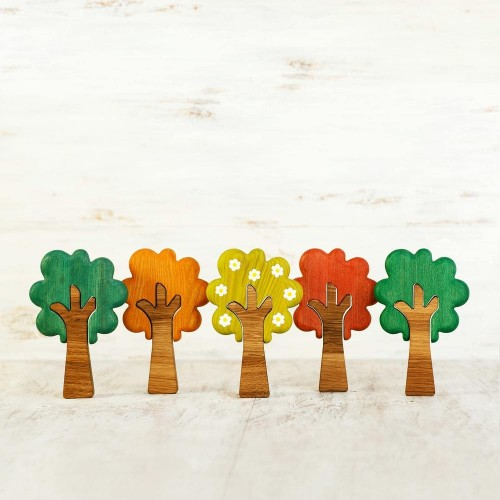 Wooden Season Tree Set (5 pcs)