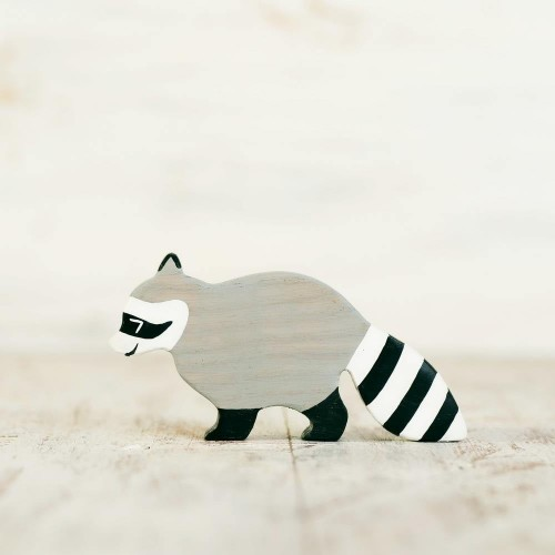 Wooden Raccoon Toy