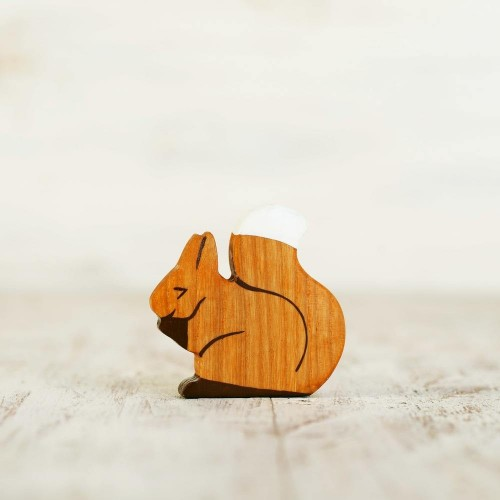Wooden toy Squirrel figurine