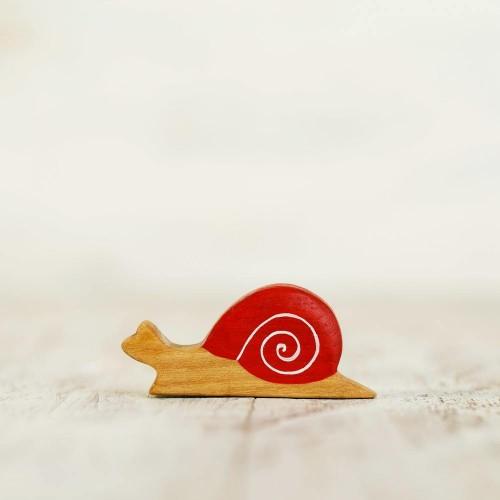 Wooden toy Snail figurine