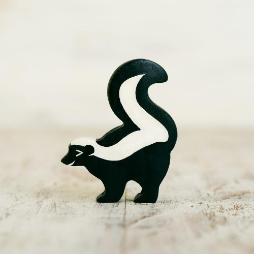 Wooden toy Skunk figurine