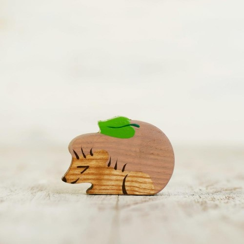 Wooden toy Hedgehog figurine