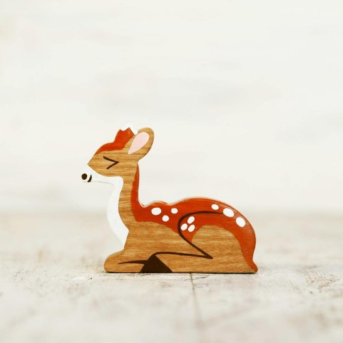 Wooden Toy Deer Figurine