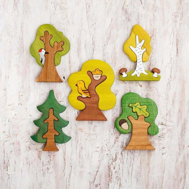 Wooden trees set (5 pcs)
