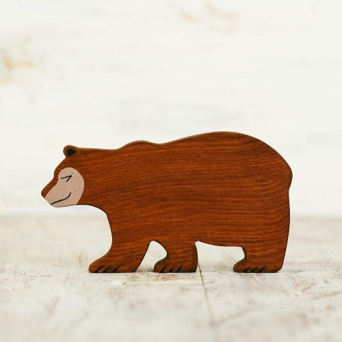 Wooden Toy bear figurine