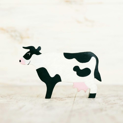 Wooden Toy Cow figurine