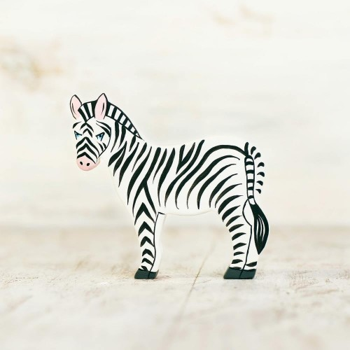 Wooden toy Zebra figurine
