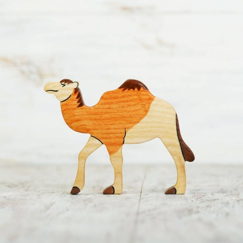 Wooden toy Camel figurine