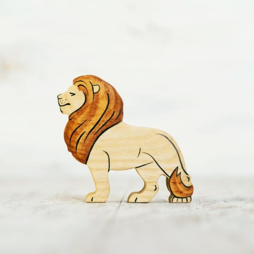 Toy lion figurine