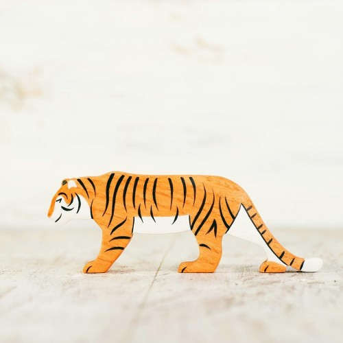 Wooden toy Tiger figurine