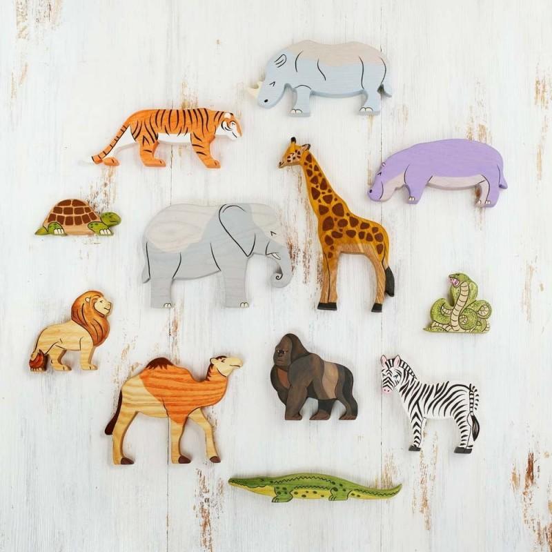 Africa safari animals play set