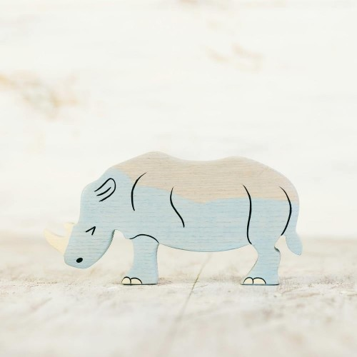 Wooden toy Rhino figurine