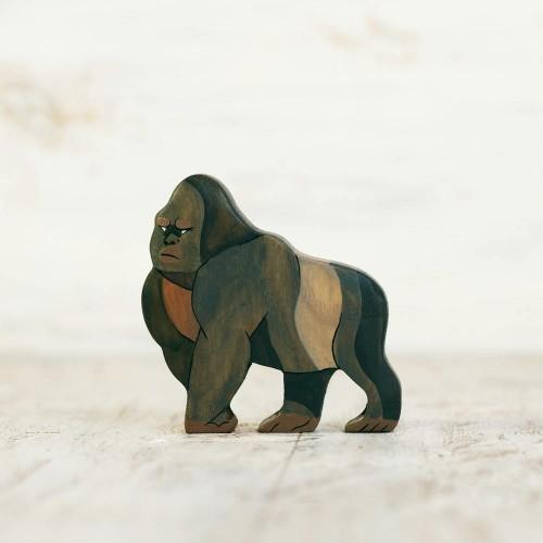 Wooden Toy Gorilla Figurine