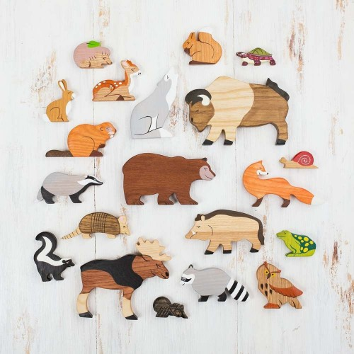 Wooden Forest Animals (17 pcs)
