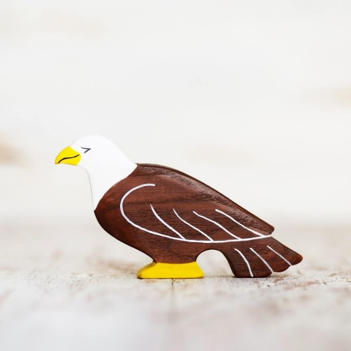 Wooden toy Eagle figurine