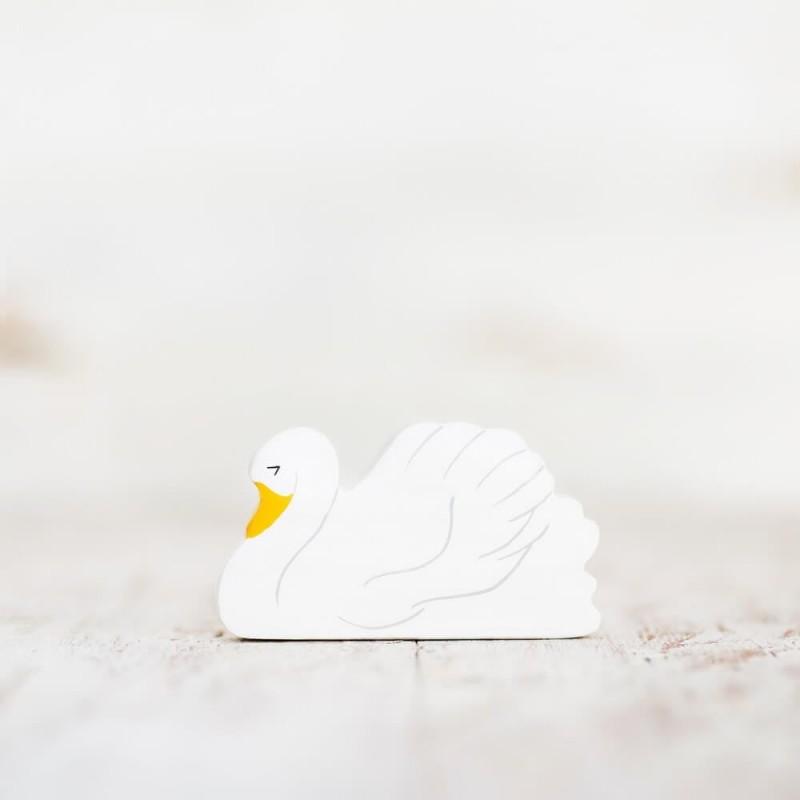 Wooden toy swan figurine