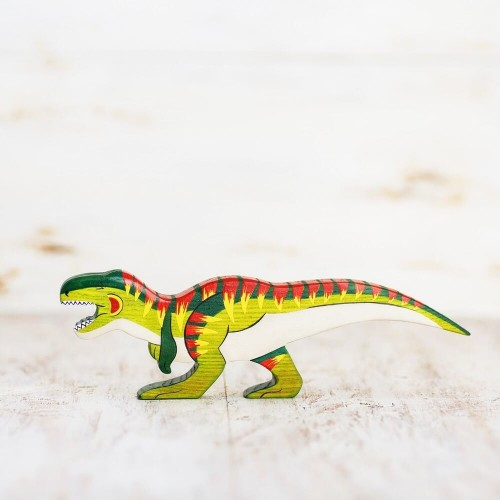 Wooden Toy T-rex figurine