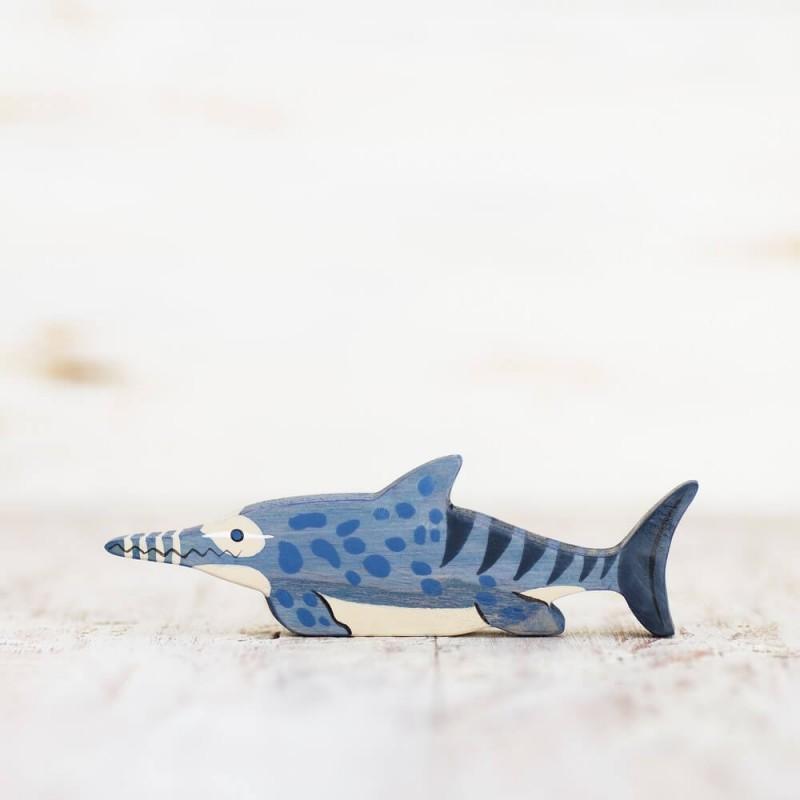 Wooden ichthyosaurus toy