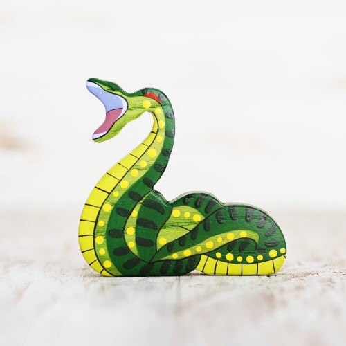 Wooden Toy Anaconda figurine