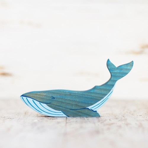 Wooden Toy Whale figurine