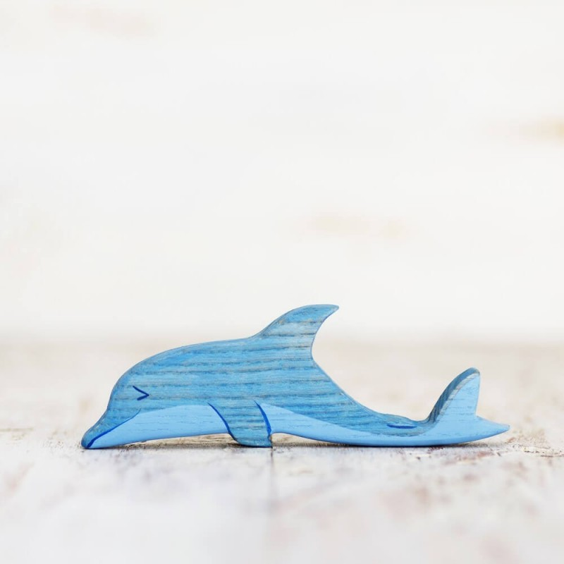 Wooden toy Dolphin figurine