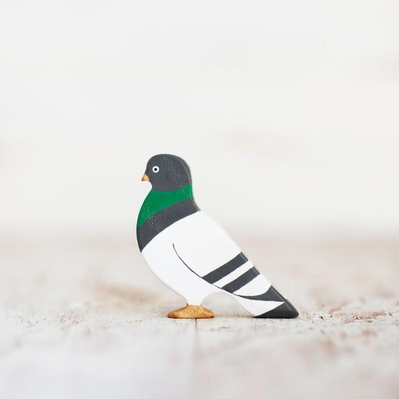 Wooden toy Pigeon figurine