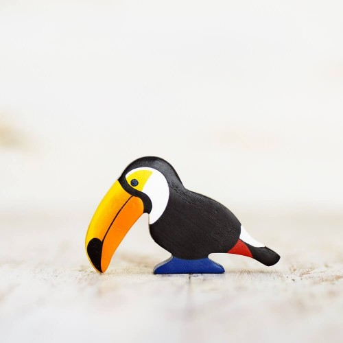 Wooden toy Toucan figurine